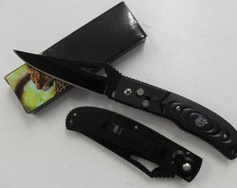 Knife Folding Pocket knife steel Fine pointed 9cm round resin Outdoor 11.5 cm