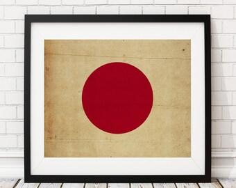 Japan Flag Art, Japan Flag Print, Japanese Flag Poster, Country Flags, Japanese Painting, Japan Flag Poster, Japanese Art, Japanese Gifts