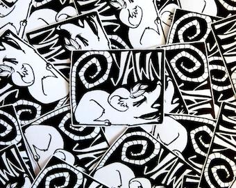 Sleepy Punk Rat YAWN Vinyl Laptop/Notebook Sticker