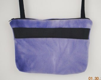Sugar Glider Bonding Pouch, baby hedgehog bonding bag, small exotic nesting supplies, zipper bag, snuggle sack,, Purple Tie Dyed Fleece