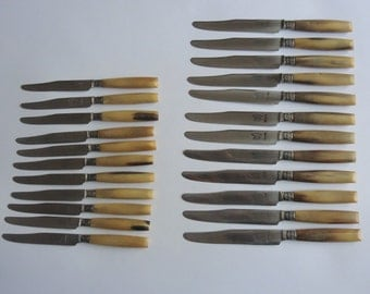 Set of vintage French knives circa 1930