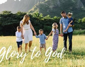 Glory to God | Custom Christmas Card