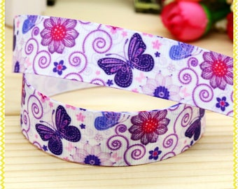 "Butterfly Grosgrain 7/8"" Printed Ribbon"