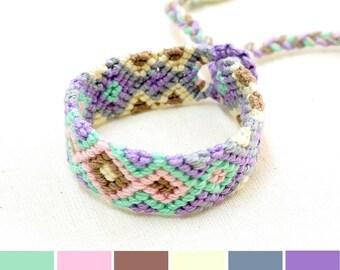 Mint Bracelet for Kids, Lavender Bracelet for Girls, Boho Bracelet, Kids Friendship Bracelet, Cute Gifts for Kids, Gifts for Toddler Girls