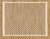 "Fish Scale EXTRA Small Pattern Stencil - Sku AP0108 (8.5"" x 11"")"