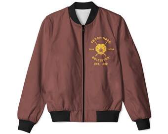 Gryffindor Quidditch Harry Potter Inspired bomber jacket - Hogwarts Tumblr Sweatshirt Pinterest Clothing all sizes avalible