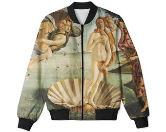 Birth of Venus by Botticelli bomber jacket / all sizes / Nascita di Venere