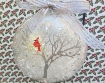 Christmas Cardinal Ornament - Christmas Ornament - Personalized Ornament