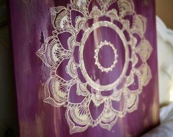 Golden Hour Mandala Painting