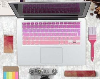 """Gradient Ombre Colors EU/UK/US layout Keyboard Cover Silicone Skin for MacBook Pro, Air 13"""" 15"""" 17"""" Retina"""