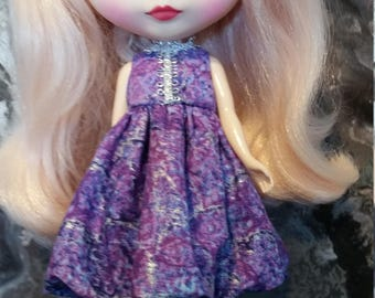 Blythe Dress - purple, lavender and silver