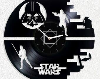 Vinyl clock Star Wars Death Star