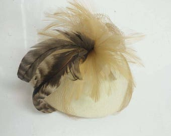 Virgin wool, fascinator hat.