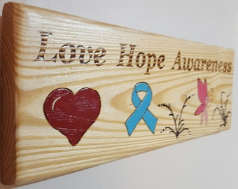 Awareness signs- signs-painted signs- sayings and quotes - home decor-gift -meaningful sayings
