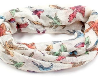 Infinity Scarf - Birds of many feathers