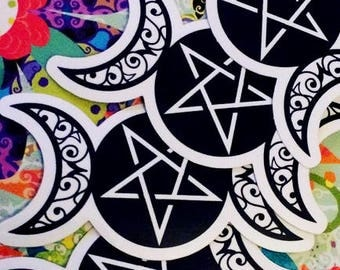 Triple Goddess Vinyl Sticker Bumper Sticker