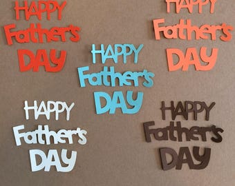 10  Happy Father's Day Die Cuts for Paper Crafts in Canyon Colors Set 5801
