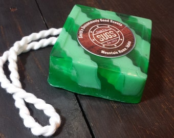 Pine Groove Rope Soap - Handmade Soap, Handcrafted Soap, Homemade Soap, Artisan Soap, Christmas Soap