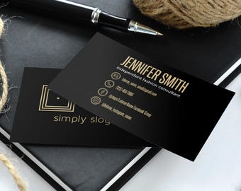 Elegant Business Cards, Free Fast Personalization, Home Office Approved, For Vistaprint, Digital Files, Llr Fashion Retailers