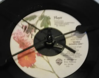 Prince 45 Record Clock - When Doves Cry