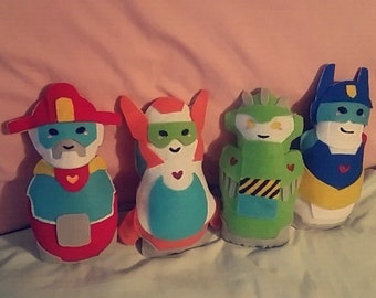 Rescue Bots Felt Plush Bundle [4 bots]