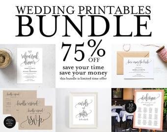 wedding invitation template, wedding program template, wedding sign, rehearsal dinner, seating chart sign, wedding menu, bridal shower, SD2A