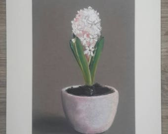 Painting with flowers, hyacinth