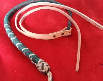 Custom colours Set whip and quirt with attachable/detachable parts - BDSM - S & M and kinky fetish play - Domination submission play