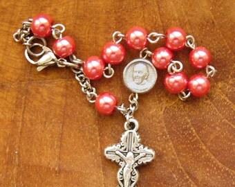 Pope Francis Rosary Bracelet, Catholic Jewelry, Womens Bracelet, Catholic Bracelet, Religious Bracelet