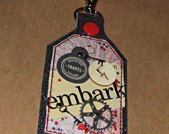 Embark One of a Kind Mixed Media Keychain