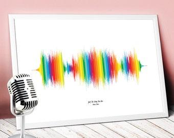 how to make a sound wave print