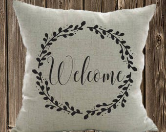 Welcome Pillow Case