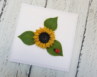 Quilled card / Birthday card/ Handmade card / Quilling / Greeting card