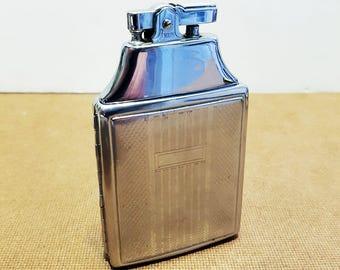 Rare 1950s Penguin Cigarette Case and Lighter, Working Condition