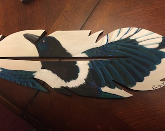 Feather Magpie Painting