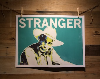 "The Stranger from Big Lebowski 24"" x 18"" print"