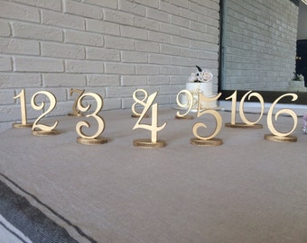 wooden table numbers wedding, Wedding table NUMBERS  easy and fast,