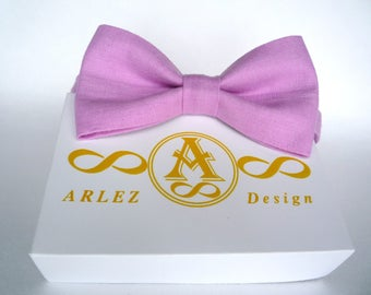 Pink bow tie, linen bow tie for men, pink bow tie, bow tie pink,  pink boy's bow tie,  wedding bow tie, Wedding Bow Tie