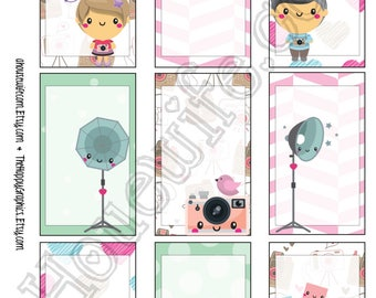 Photo, Happy Planner stickers [272] , Full box, A5 PDF, Instant download