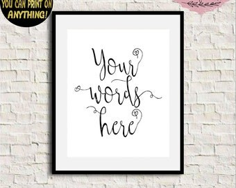 Custom word art | Etsy