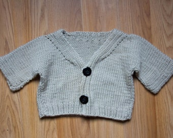 Washable Wool Baby Sweater, Machine Washable!, Infant Newborn Cardigan, Super Soft, Made in USA