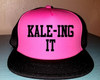 KALE-ING IT Trucker Hat Snapback Hat Custom Trucker Hat River Hat Lake Havasu Life Summer Hat Adjustable Trucker Hat Beach Hat Gym Hat Lift