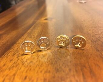 Paw Earrings - Tiger Paw Earrings - Gold Paw Earrings - Silver Paw Earrings - Dog Paw Earrings - Cat Paw Earrings - Paw - Paw Jewelry - Paws