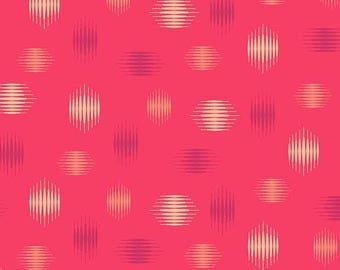 Highline in Red - Tattooed by Libs Elliott - Andover quilting cotton fabric