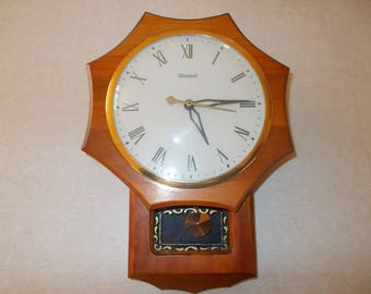 Vintage United Electric Regulator Wall Clock Model 59