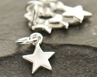 Sterling Silver Teeny Tiny Star Charm Necklace 925