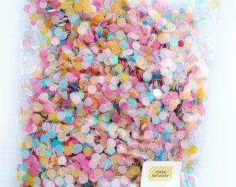 Paper Colourful Confetti 1cm circle 50g - wedding, birthday, party, decoration  - AU Free shipping