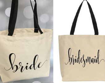 Bride Tote, Bride Bag, Bridal Shower Gift, Engagement Tote, Wedding Tote, Engagement Gift, Engagement Gift Tote, bridesmaid gift, bridesmaid