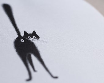 """Illustration """"Dubout cats"""" duplex * french VINTAGE * housewarming gift * Deco Office / kitchen / living room"""