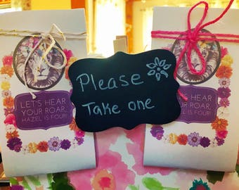 Custom party favors - personalized Favors - Birthday Party Favors - Kid's Birthday - Flower Seed Favors